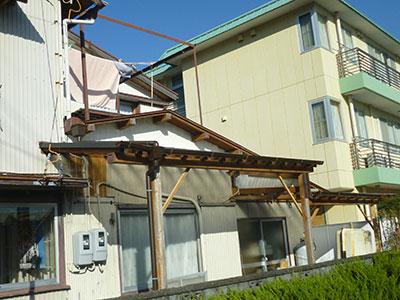 倉庫の屋根の波板張替えが完了